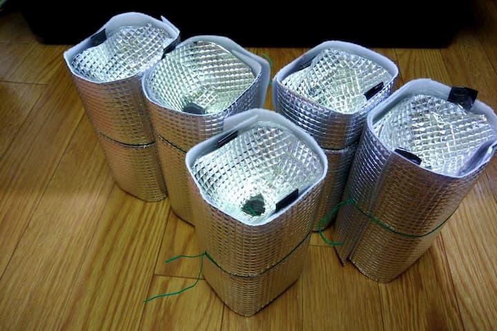 ペットボトルを使った水耕栽培容器