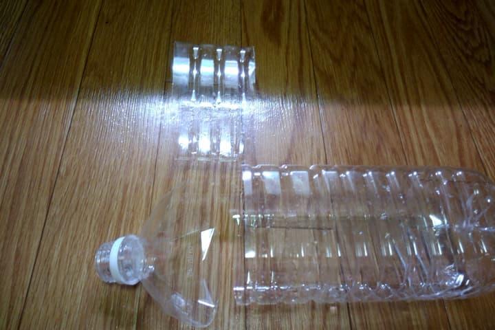 ペットボトル水耕栽培容器の作成図